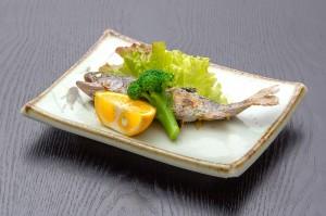 ●エノハ塩焼き ¥650円|長湯温泉のお料理・大分県の温泉で食べる定食・和食・郷土料理ならかじか庵へ