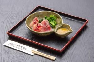 ●鯉の洗い ¥600円|長湯温泉のお料理・大分県の温泉で食べる定食・和食・郷土料理ならかじか庵へ