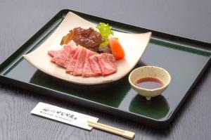 ●焼肉(地元国産牛) ¥1,300円|長湯温泉のお料理・大分県の温泉で食べる定食・和食・郷土料理ならかじか庵へ