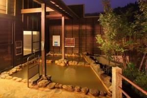 日本一の炭酸泉・長湯温泉「かじか庵」の大浴場・男湯